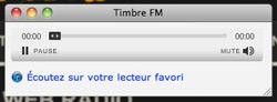 Lecteur Web de la radio Timbre FM